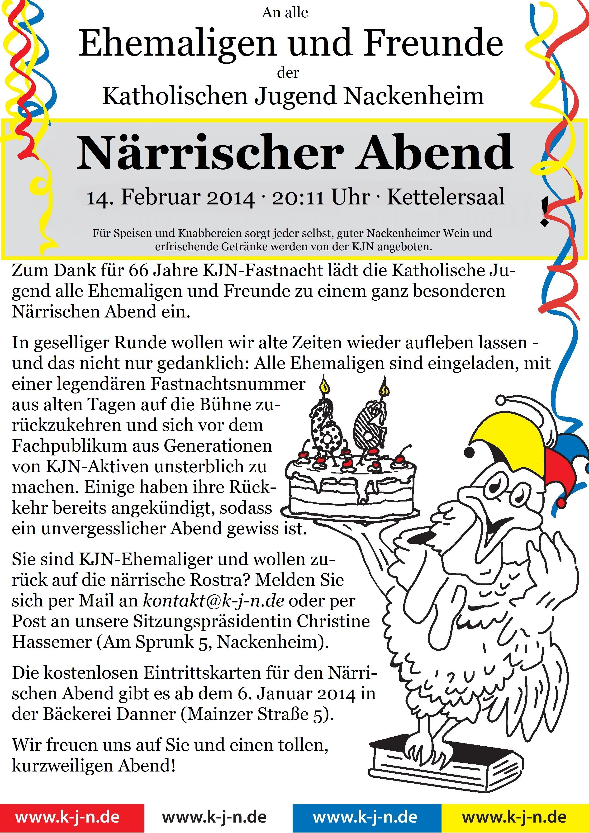 KJN 14 Närrischer Abend Amtsblatt